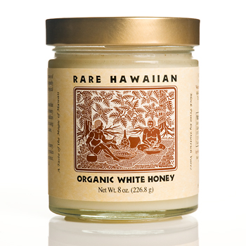 Rare Hawaiian Organic White Honey - 8oz