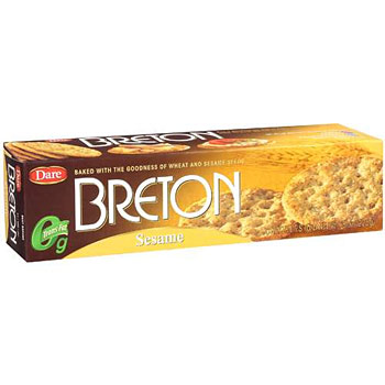 Breton Wheat & Sesame Crackers - 8oz (Kosher)