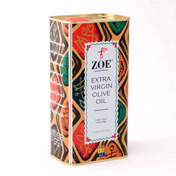 Zoe Extra Virgin Olive Oil 1-ltr
