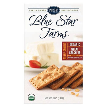 Organic Blue Star Farms Stone Ground Wheat Bite-Size Crackers - 5oz