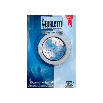 Bialetti Rubber Rings and Stainless Steel Filter Plate 10-cup