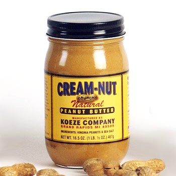 Koeze Cream-Nut Crunchy Natural Peanut Butter - 16.5oz (Kosher)