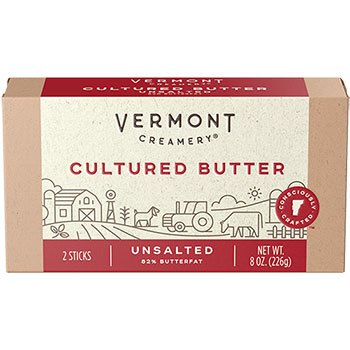 Vermont Creamery Cultured Butter - Unsalted Chef Roll 8oz
