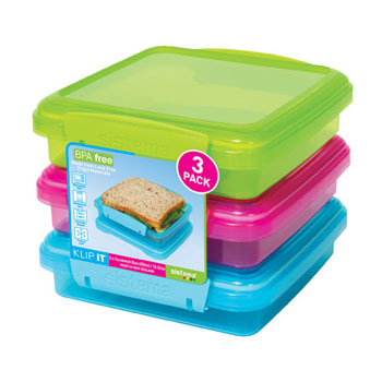 Sistema Klip It 3-Pack Sandwich Box - #1647