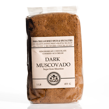 India Tree Dark Muscovado Sugar from Mauritius - 1lb