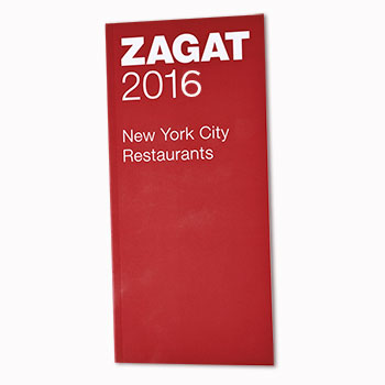 2016 Zagat New York City Restaurant Guide