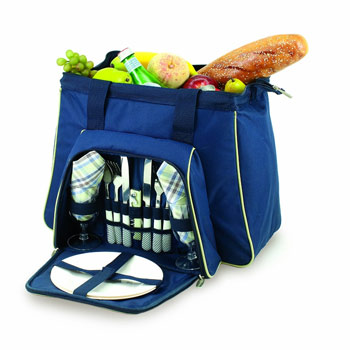 Picnic Time Toluca Insulated Cooler Tote for 2, Blue #401-42-138