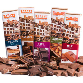 Zabar's Chocolate Bars (Kosher) - 2oz each