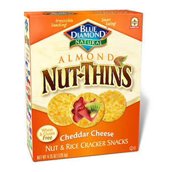 Blue Diamond Almond Nut-Thins Cheddar Cheese - 4.25oz (Kosher)