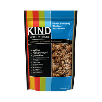 Kind Healthy Grains, Vanilla Blueberry Clusters with Flax Seeds - 11oz (Kosher)