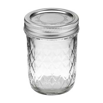 Ball Half-Pint Quilted Jelly Canning Mason Jar #B812-S