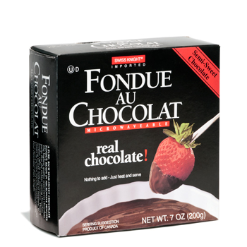 Swiss Knight Fondue Au Chocolat Semi-Sweet Chocolate