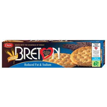 Breton Reduced Fat & Sodium Wheat Crackers - 8oz (Kosher)
