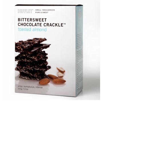 Dufflet Bitter Sweet Chocolate Crackle, Toasted Almond - 5.3 oz, , large