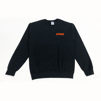 Zabar's Black Embroidered Logo Sweatshirt #562M, , large