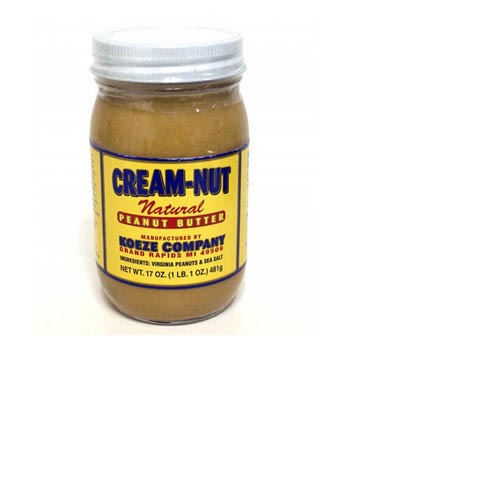 Koeze Cream-Nut Natural Peanut Butter - 17oz (Kosher), , large