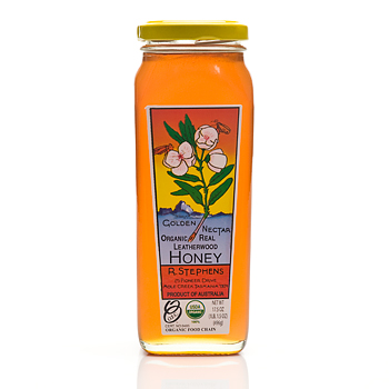 Golden Nectar Organic Real Leatherwood Honey - 17.5oz, , large