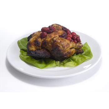 Orange Glazed Cornish Hens 1-lb min. wt., , large