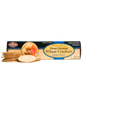 Medford Farms Stone Ground Wheat Crackers Less Salt - 8.8oz (Kosher), , large