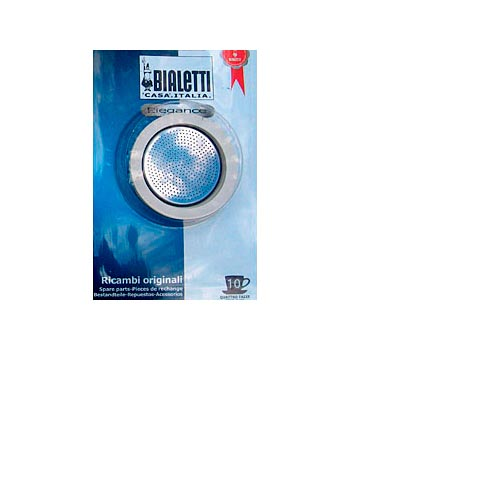 Bialetti Rubber Rings and Stainless Steel Filter Plate 10-cup, , large