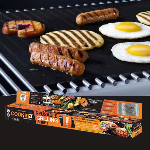 Cookina Barbecue Reusable Grilling Sheet, , large