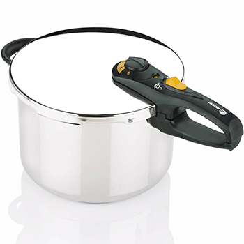DISC....Fagor Duo 8qt. 18/10 Stainless Steel Pressure Cooker w/ Accessories (#918060787), , large
