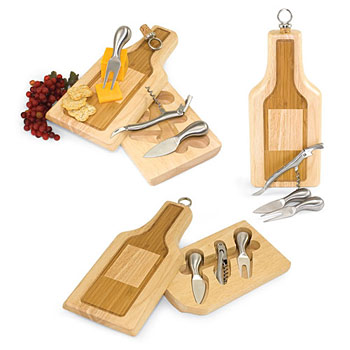 Picnic Time Silhouette Cheese Board & Tool Set, , large