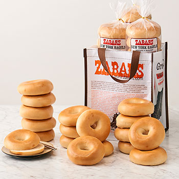 Zabar's NY Original Toasting Bagel Bag -  18-Plain (Kosher)