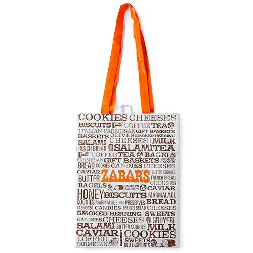 zabars printed reusable shopping bag 12 x 16