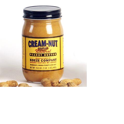 Koeze Cream-Nut Crunchy Natural Peanut Butter - 16.5oz (Kosher), , large