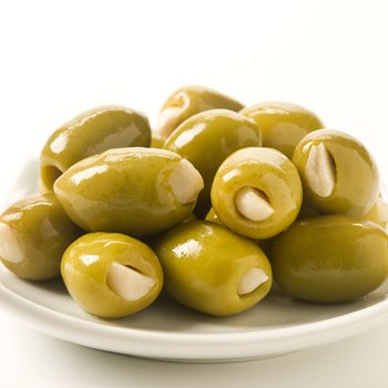 Garlic Stuffed Green Olives - 10oz, , large