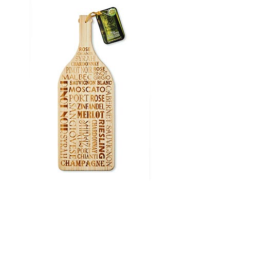 Totally Bamboo Wine Bottle Cutting/Serving  Board 19in x 7in    #20-7770, , large