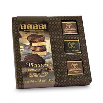 Babbi Viennesi Filled Wafers Covered with Dark Chocolate, , large