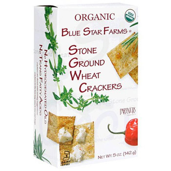 Organic Blue Stars Farms Stone Ground Wheat Crackers - 5oz  (Kosher), , large