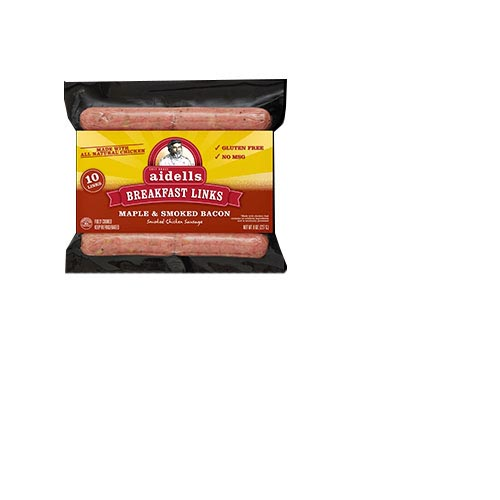 Aidells Breakfast Chicken Links- Maple & Smoked Bacon 8oz, , large