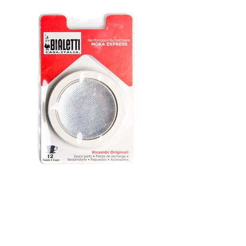 Bialetti Rubber Rings and Filter Plate for 12-cup Moka Express, , large