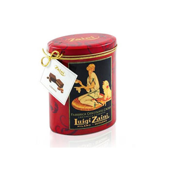 Luigi Zaini Dark Chocolate with Hazelnut in Cremini Tin 6.56oz, , large