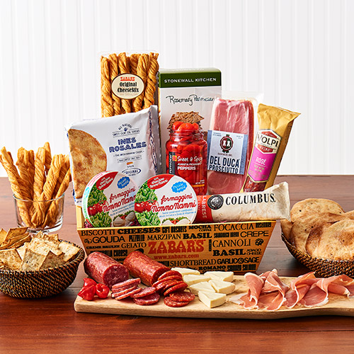 Zabar's Salami & Cheese Crate - Gift Basket