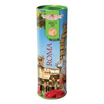 Amaretti Ciostro di Saronno Roma Soft Cookies in Tin - 6.34oz, , large