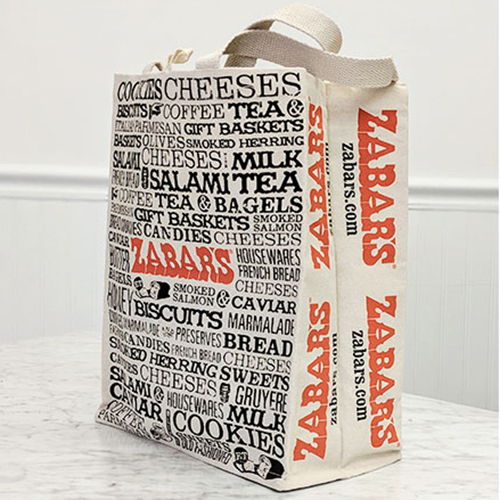 "Zabars Printed Canvas Tote - 11.75x14"", , large"