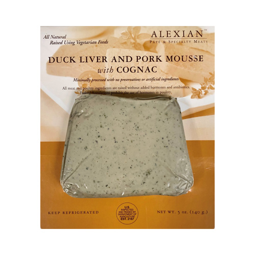 Alexian Duck Liver Mousse with Cognac 5-oz, , large