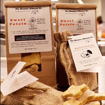 No Bones About It All Natural Wheat Free Sweet Potato Dog Biscuits 5.5oz, , large