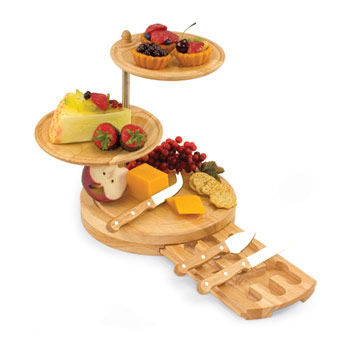 Picnic Time - Regalio Three Teired Serve/Cutting Board #813-00-505, , large