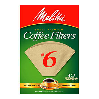 Melitta #6 Coffee Filters - (40ct.), , large
