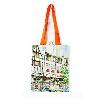 "Zabar's Reusable Shopping Tote - 9x11"" Store Front, , large"