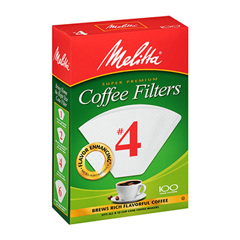 Melitta #4 Coffee Filters - (100ct.), , large