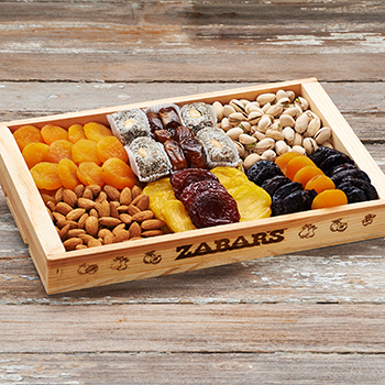 Zabar's Dried Fruit & Nut Tray -  2lb 4oz - #286, , large