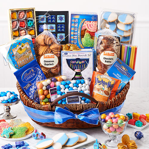 Hannukah basket hanukkah basket kosher large negle Image collections