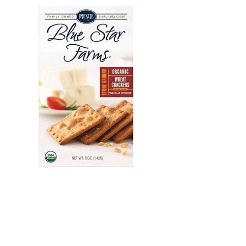 Organic Blue Star Farms Stone Ground Wheat Bite-Size Crackers - 5oz, , large