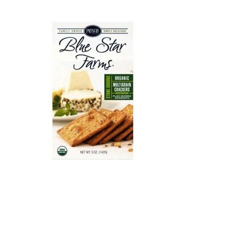 Organic Blue Star Farms Stone Ground Multigrain Bite-Size Crackers - 5oz, , large